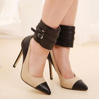 Super Sexy Ankle Strap Pointed Toe ..