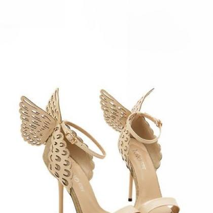 Beautiful Wings Design Apricot High..