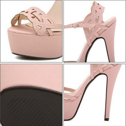Cutout Sandals featuring Stiletto P..