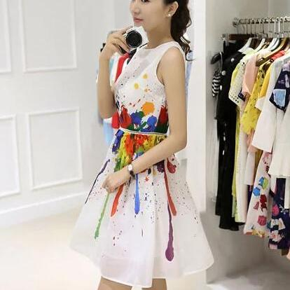 Print dress fashion cultivate one's..