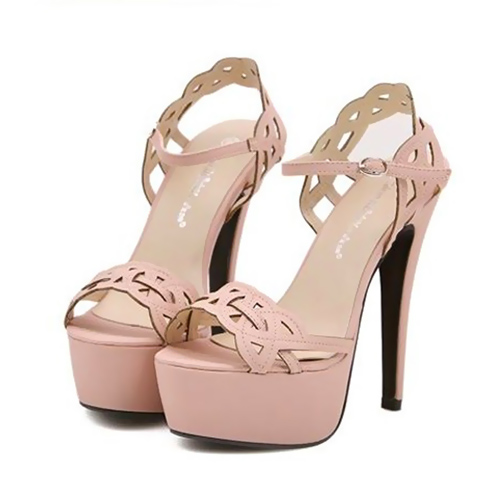 Cutout Sandals featuring Stiletto Platform Heels