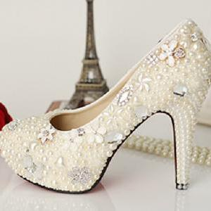 Cool And Girly Peals Highe Heel, Beautiful High Heels With Flowers, High Heels