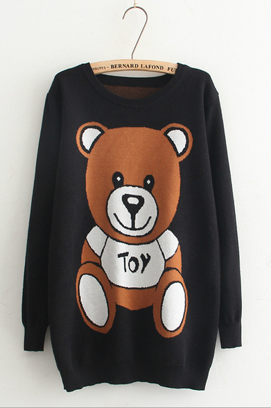 Cute teddy bear knitted dress