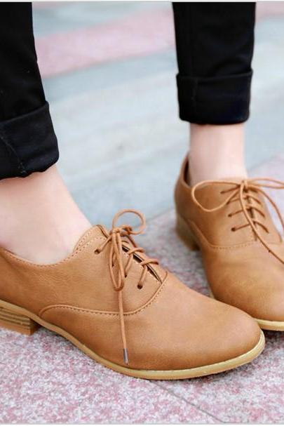 Chic Lace Up Oxford Shoes